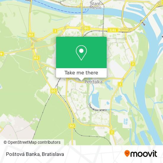 Poštová Banka map