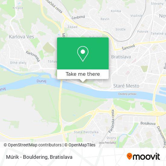 Múrik - Bouldering map