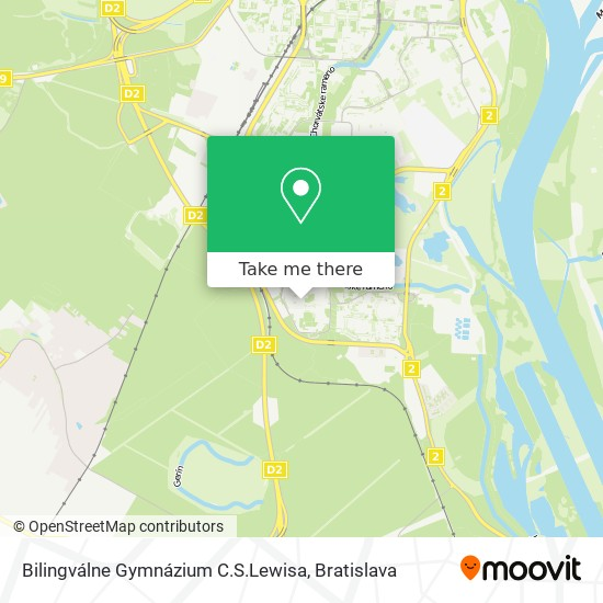 Bilingválne Gymnázium C.S.Lewisa map