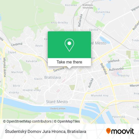 Študentský Domov Jura Hronca map