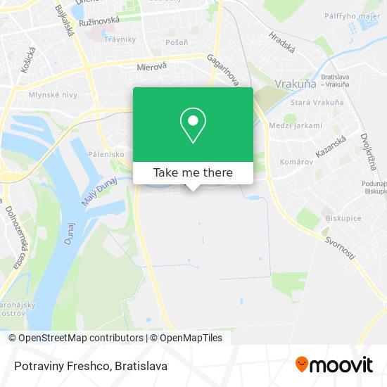 Potraviny Freshco map