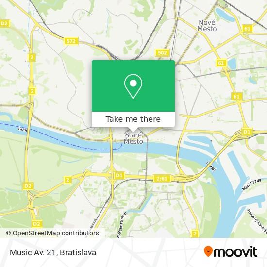 Music Av. 21 map