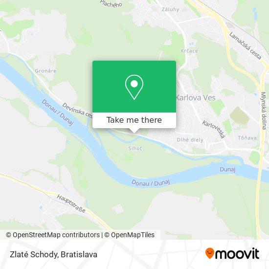 Zlaté Schody map