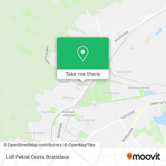 Lidl Pekná Cesta map