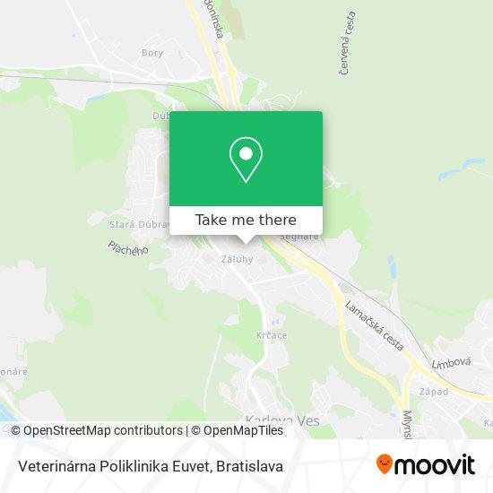 Veterinárna Poliklinika Euvet map