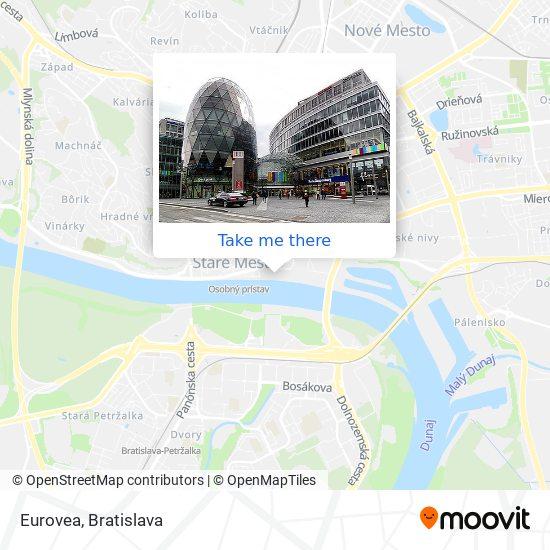 Eurovea map