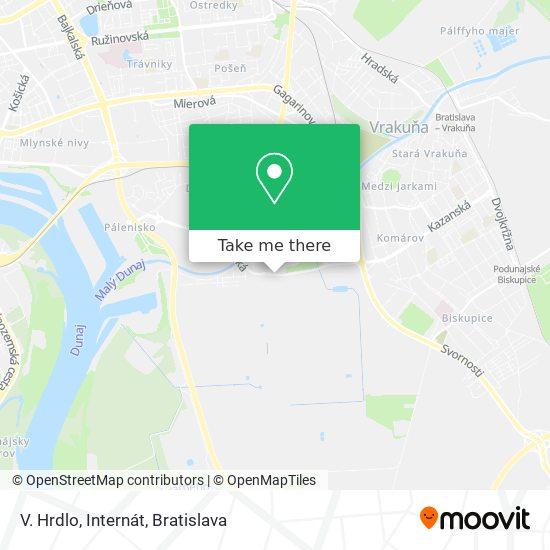 Vlčie Hrdlo - Zastávka map