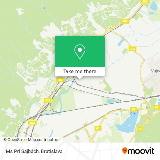Mš Pri Šajbách map