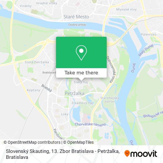 Slovenský Skauting, 13. Zbor Bratislava - Petržalka map