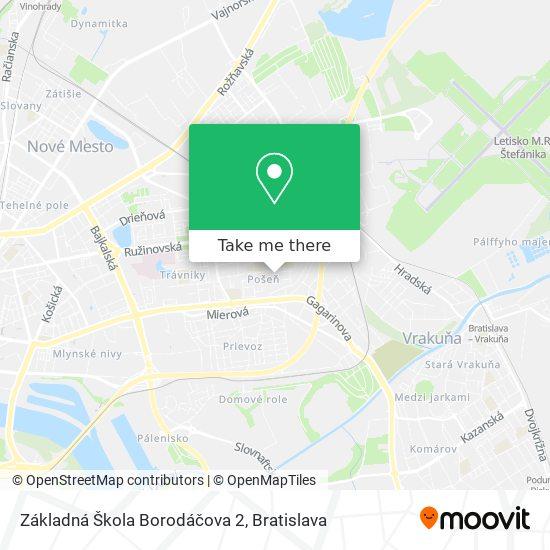 Základná Škola Borodáčova 2 map