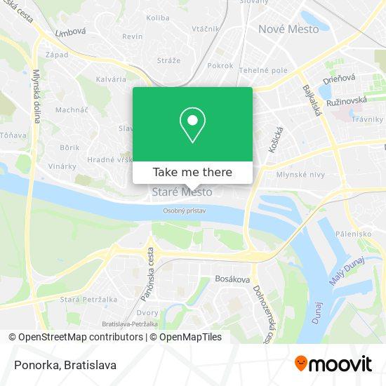 Ponorka map