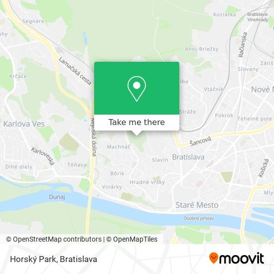 Horský Park map