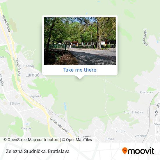Železná Studnička mapa