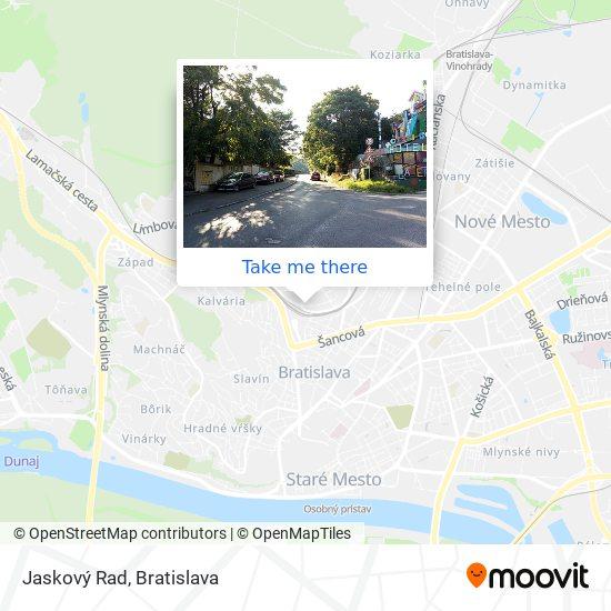 Jaskový Rad map