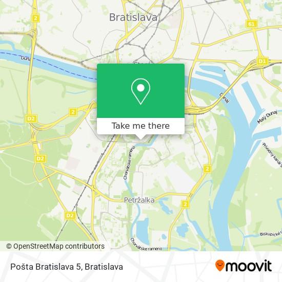 Pošta Bratislava 5 map