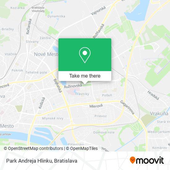Park Andreja Hlinku map