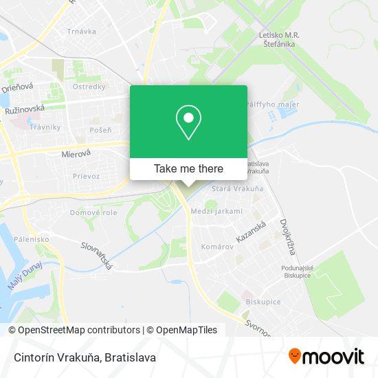Cintorín Vrakuňa map