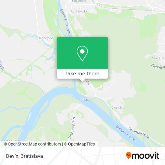 Hrad Devín map