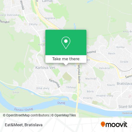 Eat And Meet (Študentská Jedáleň) map