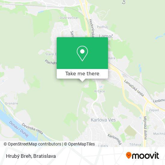 Hrubý Breh map