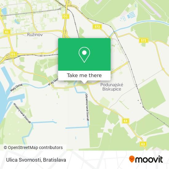 Ulica Svornosti map