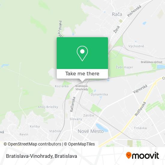 Bratislava-Vinohrady map