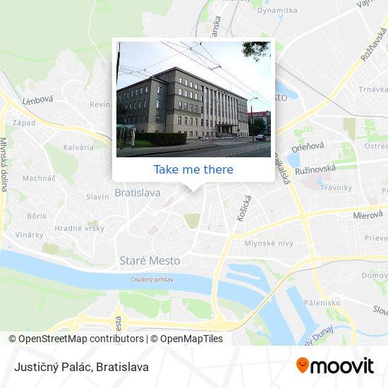 Justičný Palác map