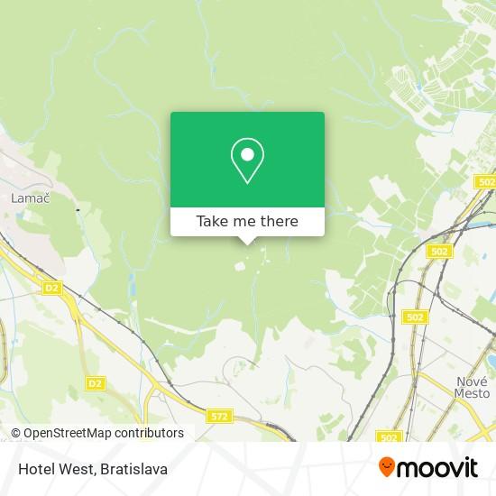 Hotel West mapa