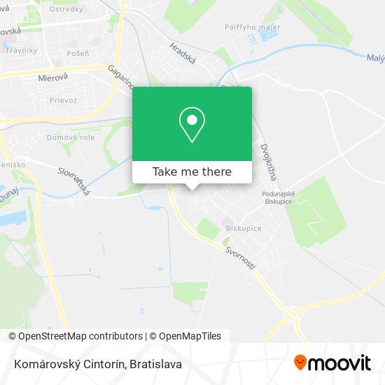 Komárovský Cintorín map