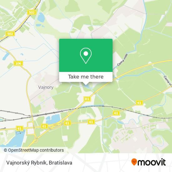 Vajnorský Rybník map