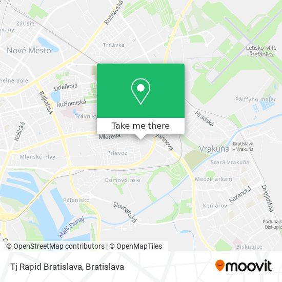 Tj Rapid Bratislava map