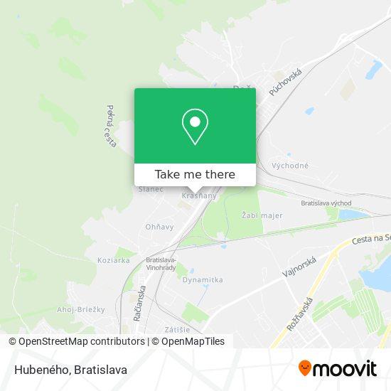 Hubeného map
