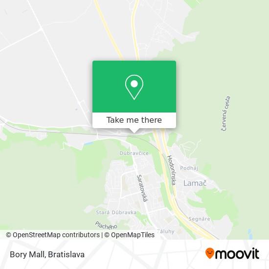 Bory Mall map