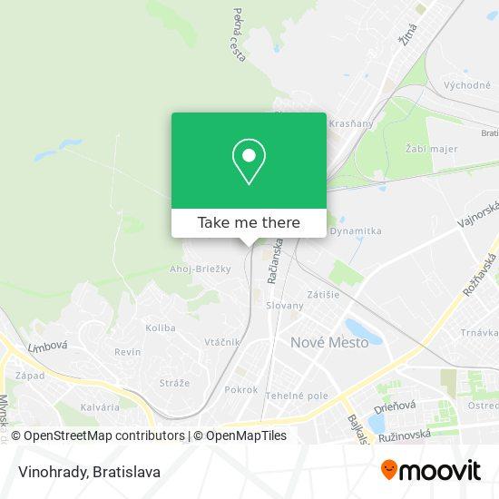 Vinohrady map