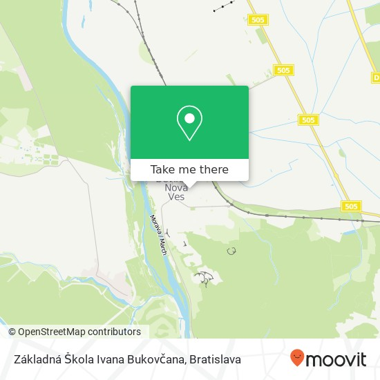 Základná Škola Ivana Bukovčana mapa