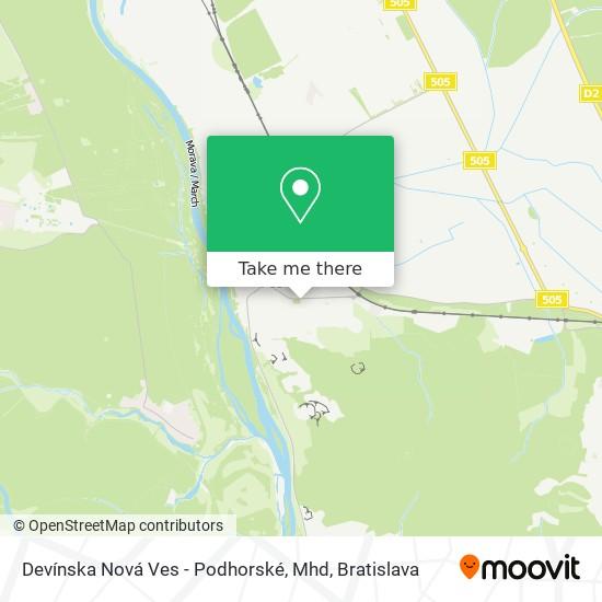 Devínska Nová Ves - Podhorské, Mhd map