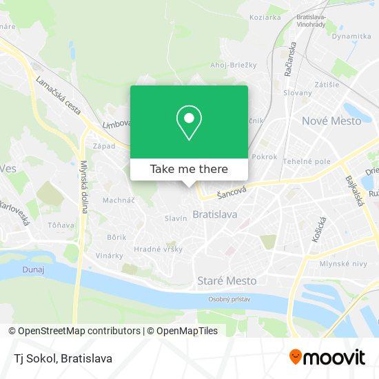 Tj Sokol map