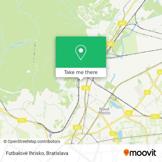 Futbalové Ihrisko map