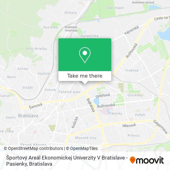 Športový Areál Ekonomickej Univerzity V Bratislave - Pasienky map