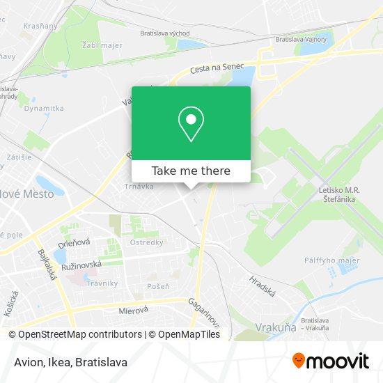 Avion - Ikea map
