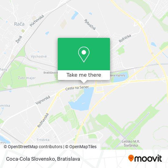 Coca-Cola Slovensko map