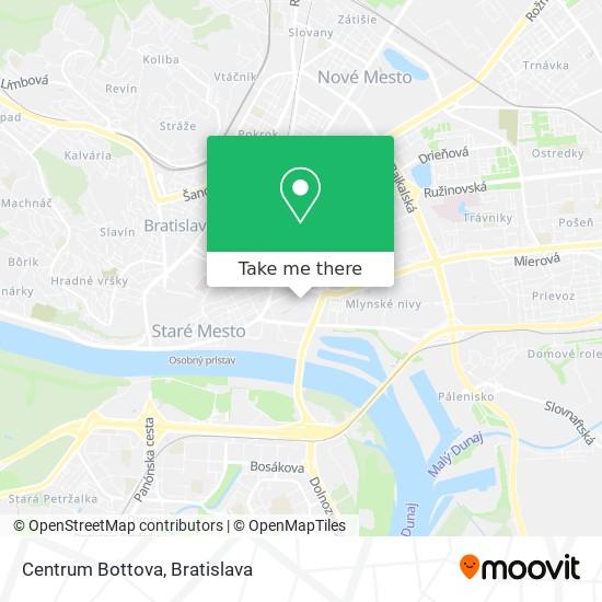Centrum Bottova map