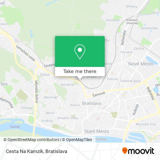 Cesta Na Kamzík map