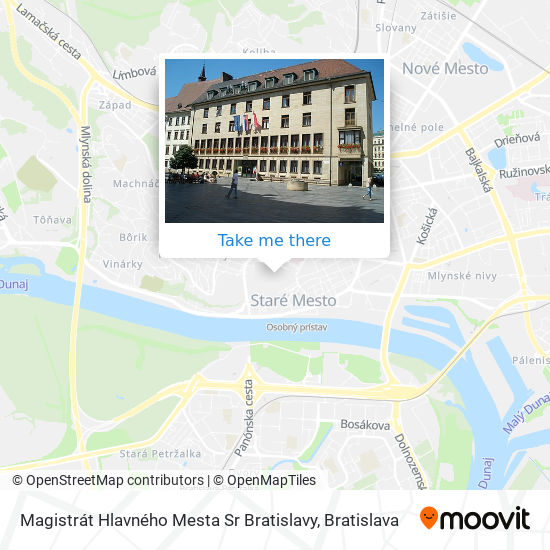 Magistrát Hlavného Mesta Sr Bratislavy map