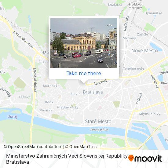Ministerstvo Zahraničných Vecí Slovenskej Republiky map