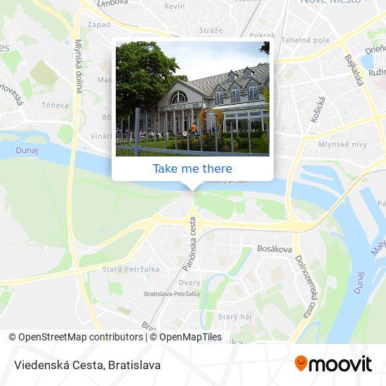 Viedenská Cesta map