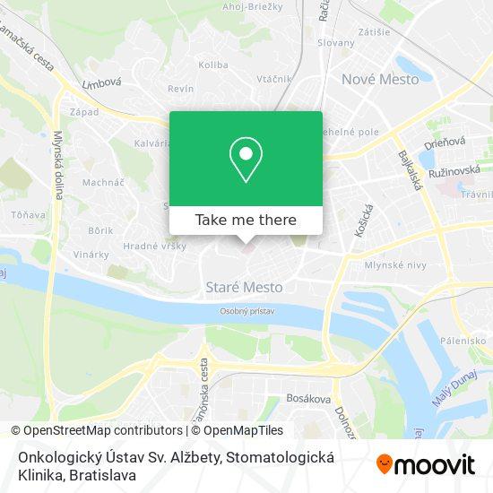 Onkologický Ústav Sv. Alžbety, Stomatologická Klinika map