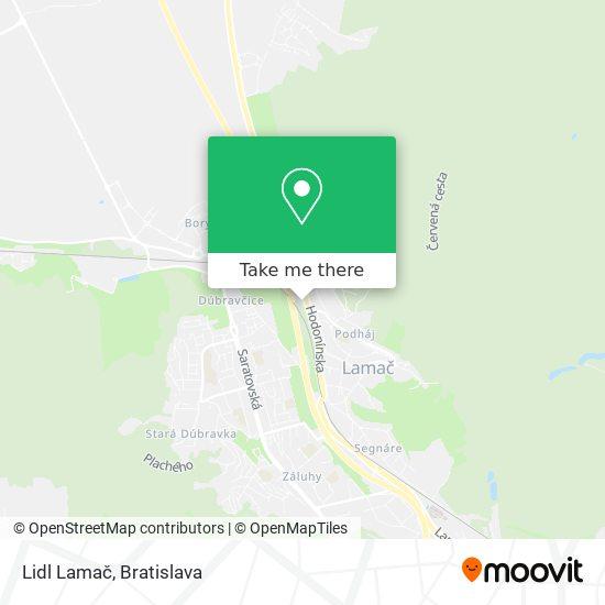 Lidl Lamač map