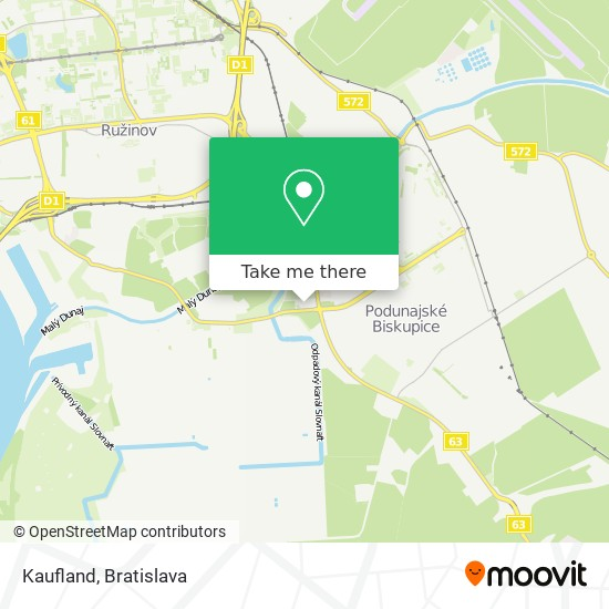 Kaufland map