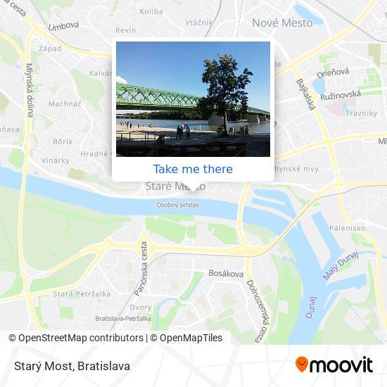 Starý Most map